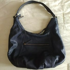 Beautiful Navy Blue Leather Boden Handbag